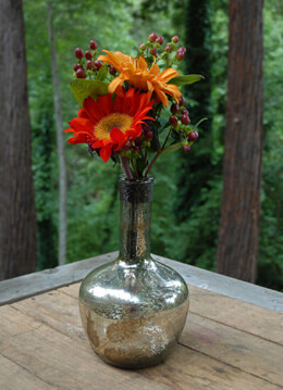 "Mercury Glass Bottle 6"" x 10"""