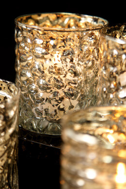 4 Mercury Glass Candle Holders