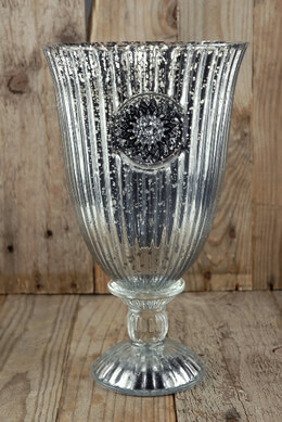 Mercury Glass Chalice Vase