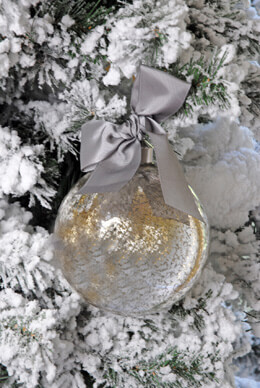 Mercury Glass Ornament 4.75in