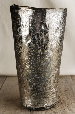 Mercury Glass Vase | Arctic Ice