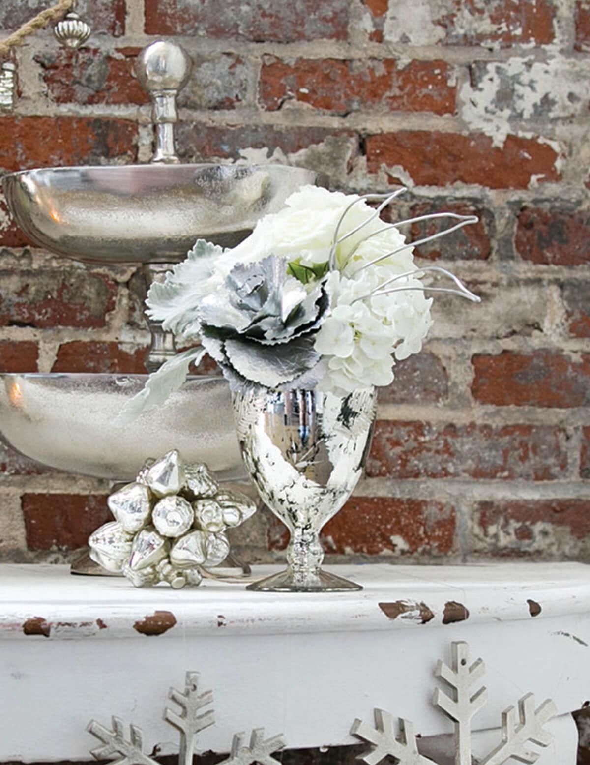 Silver Mercury Ivy Vase