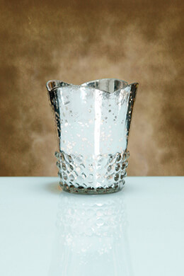 Mercury Glass Votive Cup Silver 3.63in