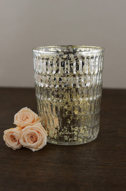 Mercury Glass Votive Holder 4.5in