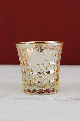 Mercury Glass Votive Holder Champagne 2.6in