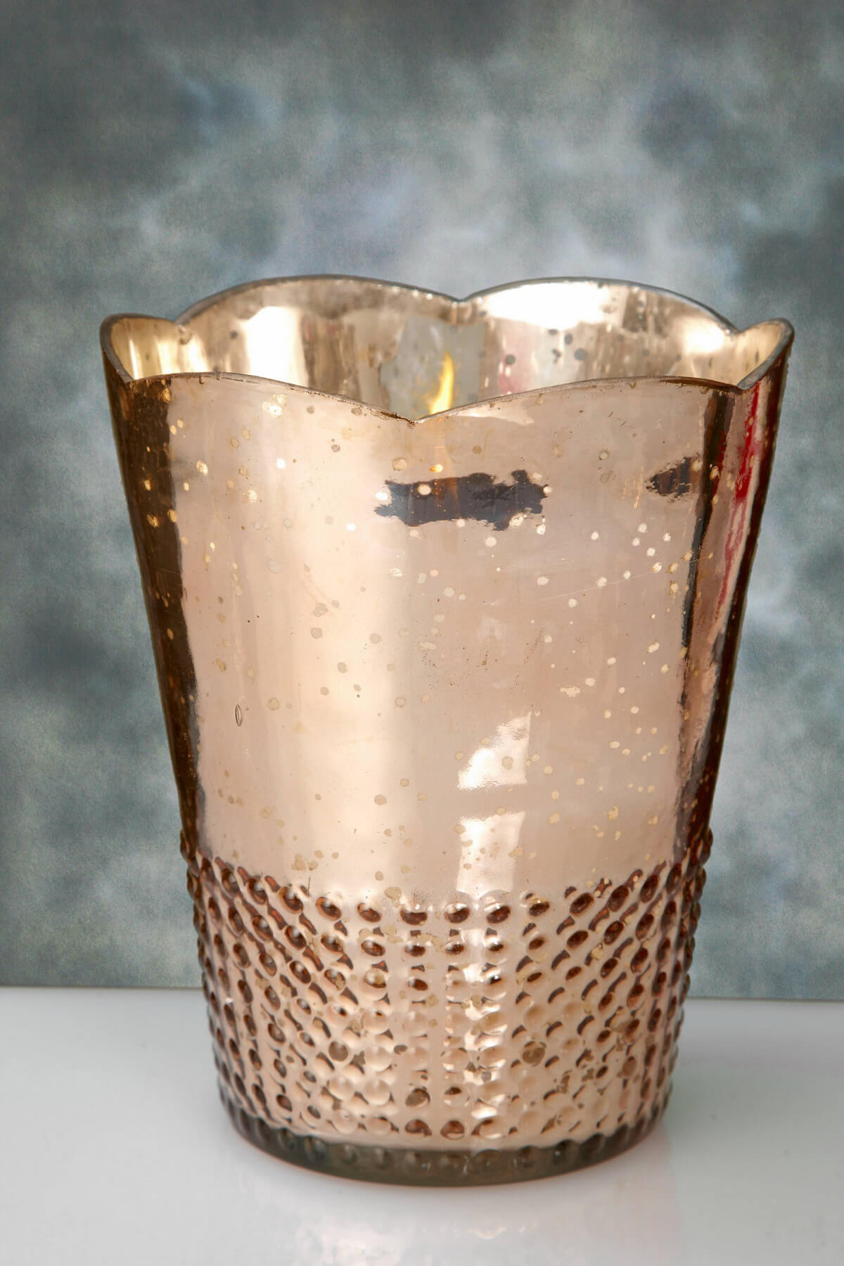 Rose Gold Mercury Glass Array Votive Candle Holders 7 5in