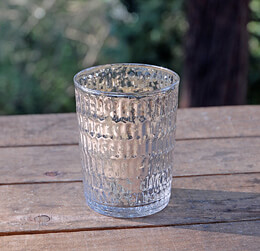 Mercury Glass Votive Holders 4.5in (Set of 4)