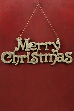Merry Christmas Sign 19x7in