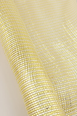 Mesh Fabric Gold 21in x 10yd