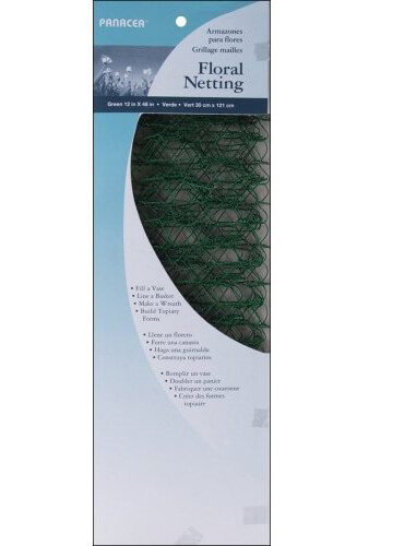 """Mesh Wire Floral Netting 12""""X48"""" 1/Pkg-Green"""