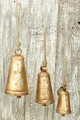 Metal Bells Gold (Set of 3)
