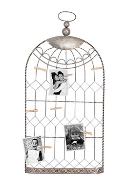 "Metal Birdcage Photo Holder 18"" x 38"""