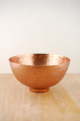 Metal Bowl Copper 10.4x5.5in