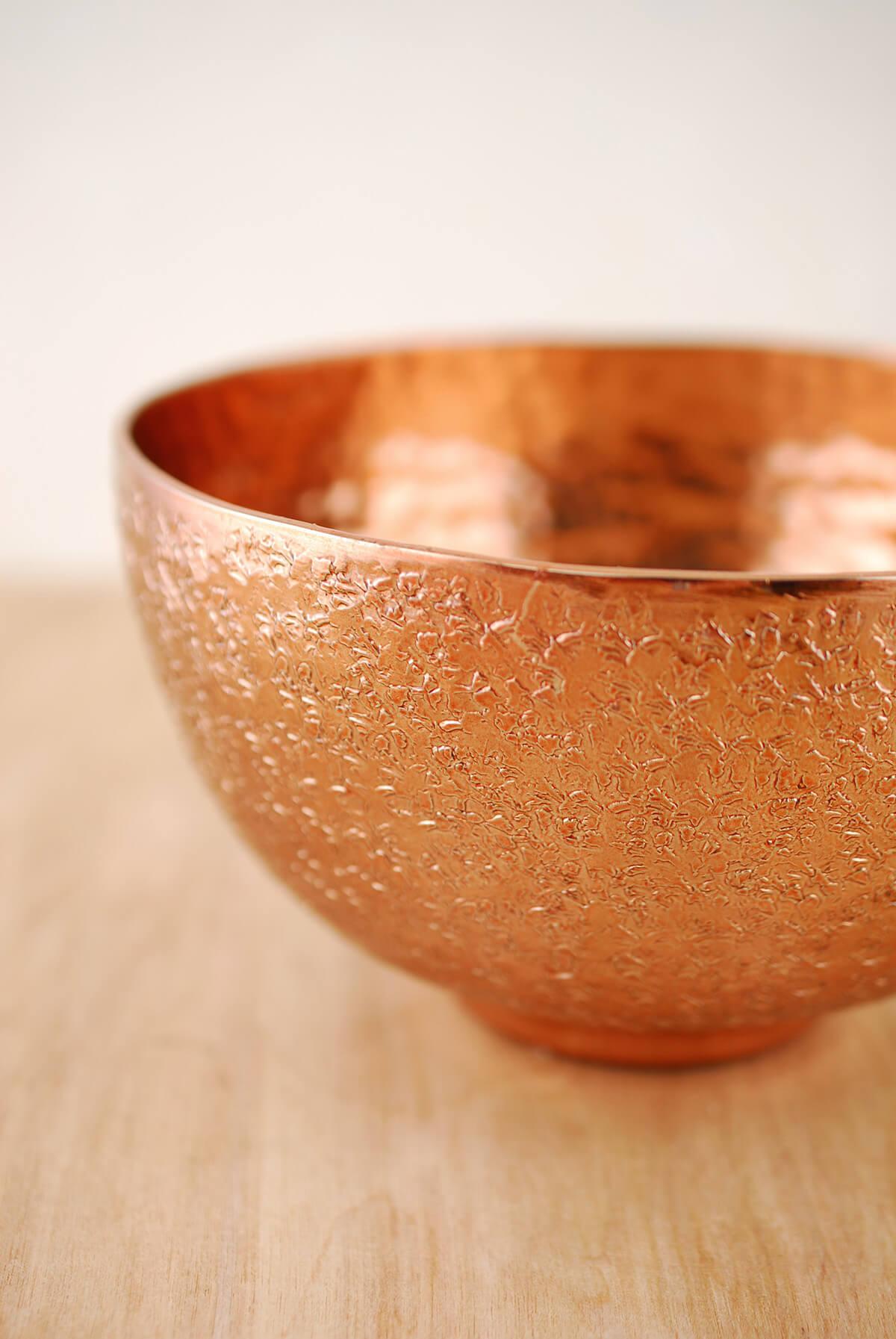 Metal Bowl Copper 6.25x3.5in