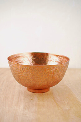 Metal Bowl Copper 8-3/8x4.5in