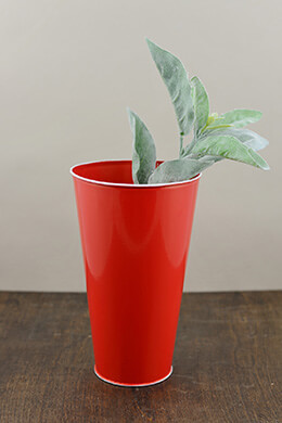 Metal Bucket Red 5.75 x 9.5in