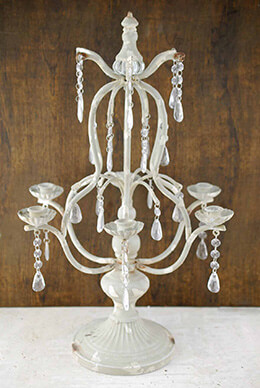 Metal Candelabra Gray