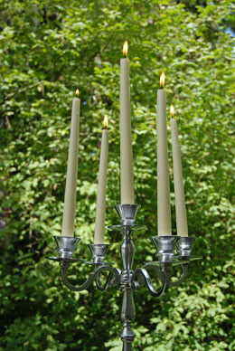 Metal Candelabra Silver 22.5in