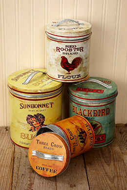 Metal Canisters (Set of 4)