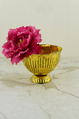 Metal Compote Gold 6.25x4.75in