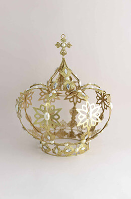 "15"" Large Metal Crown"
