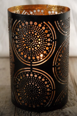 LIMA Patterned Metal Votive Holders