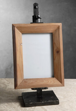Metal Easel & Wood Frame 14.5in