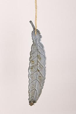 Metal Feather Ornament 11.8in (Set of 4)