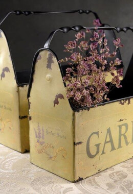 Metal Garden Caddies (set of 2)