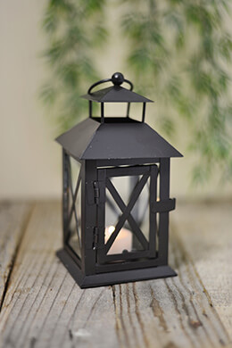 Metal Lantern Black 7in x 3.5in