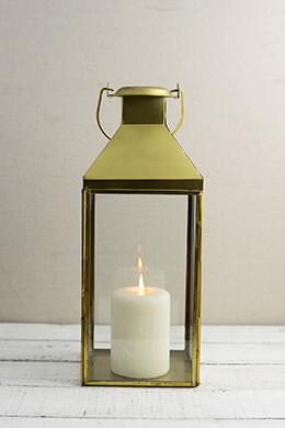 Metal Lantern Gold 5.5x14in