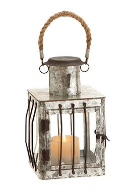 Metal & Glass Ships Lantern