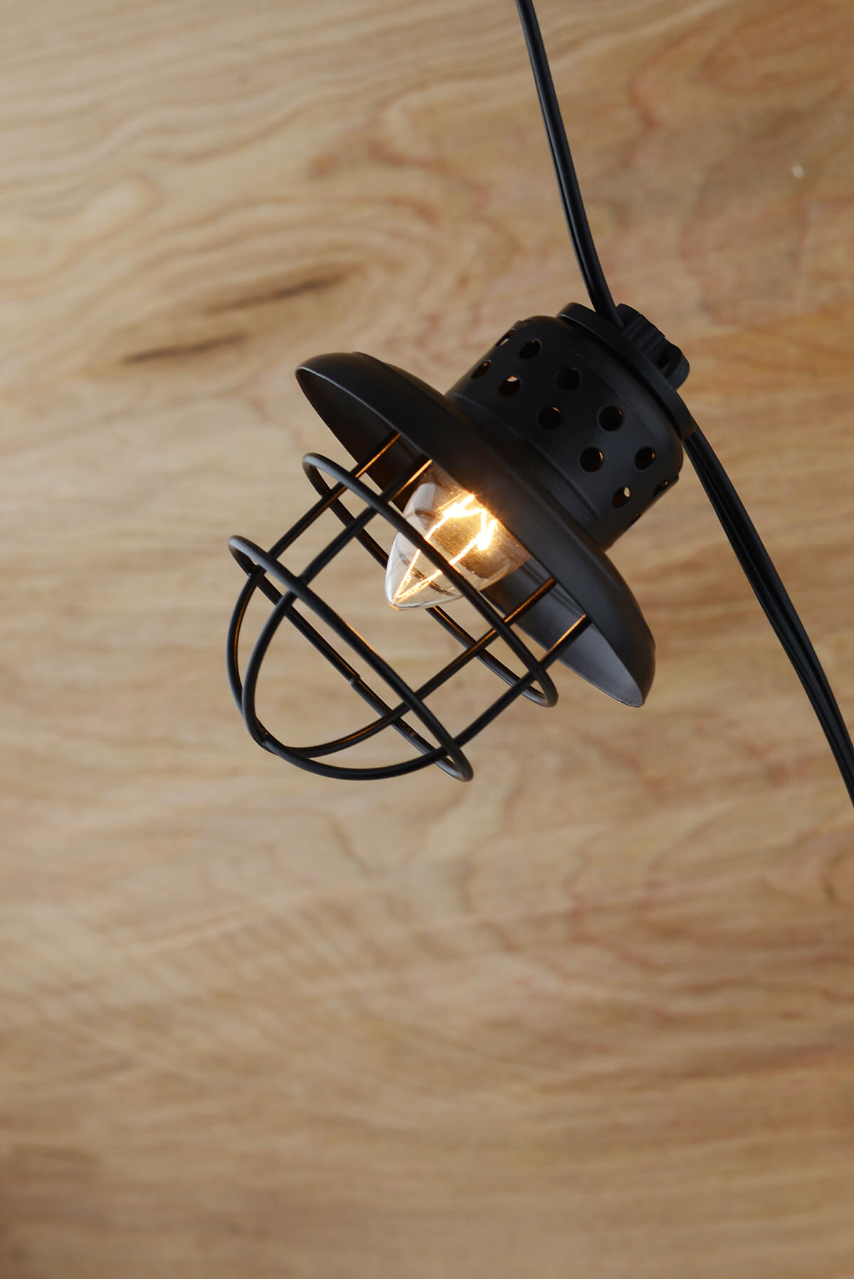 Nautical Cage String Lights Black 10ct