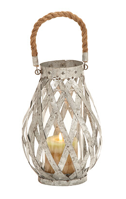 Metal Lattice Lantern 10in