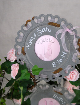 Metal Photo Frame Scalloped Round