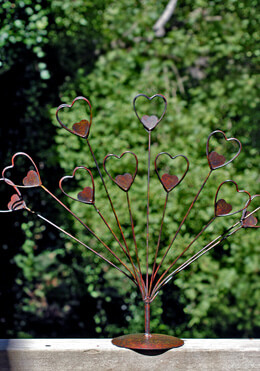 "21"" Photo Holder Display Copper Heart"