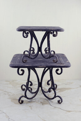 Metal Pedestal Display Risers (set of 2)