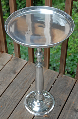 "Metal Table 26"" & 11"" Cocktail Table"