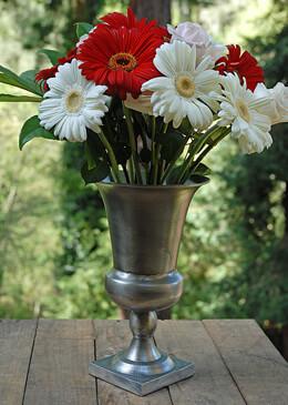 Metal Trumpet Vase 11.5in