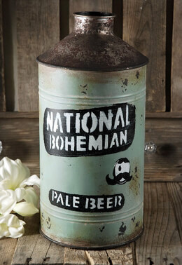 Vintage Beer Can Vase