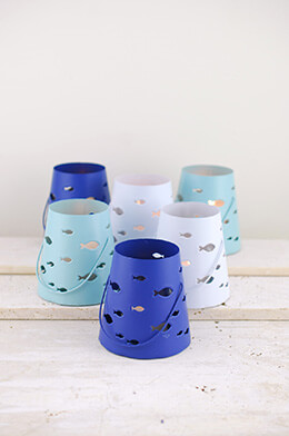 6  Beach Votive Holders