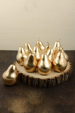Metallic Gold Pear 4.5in (Pack of 12)