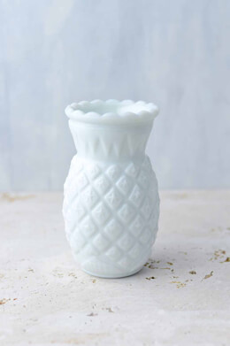 Heirloom Milk Glass Vase 5.75in