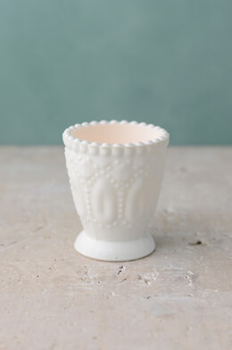6 Hobnail Milk Glass Votive Holders, Heirloom Collection