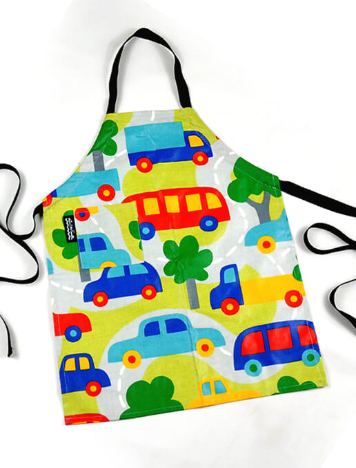 Mimi the Sardine Hybrid Cars Apron (formaldehyde-free) fits 2 to 6 years
