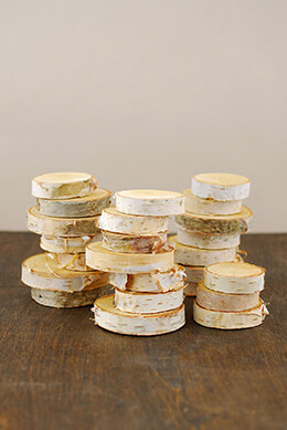 "Birch Tree Round Pieces (Pack of 24) 1.5"" -2.75"""