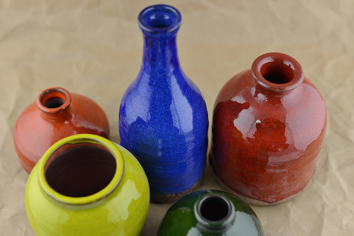 Mini Ceramic Vases (Set of 5)