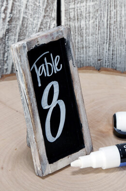 """6 Standing Framed Small Chalkboards 2"""" x 4"""""""