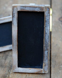 "Standing Framed Small Chalkboards 2"" x 4"" (Set of 6)"
