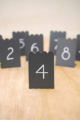 8 Mini Chalkboards Placecards  2x3  Zinc